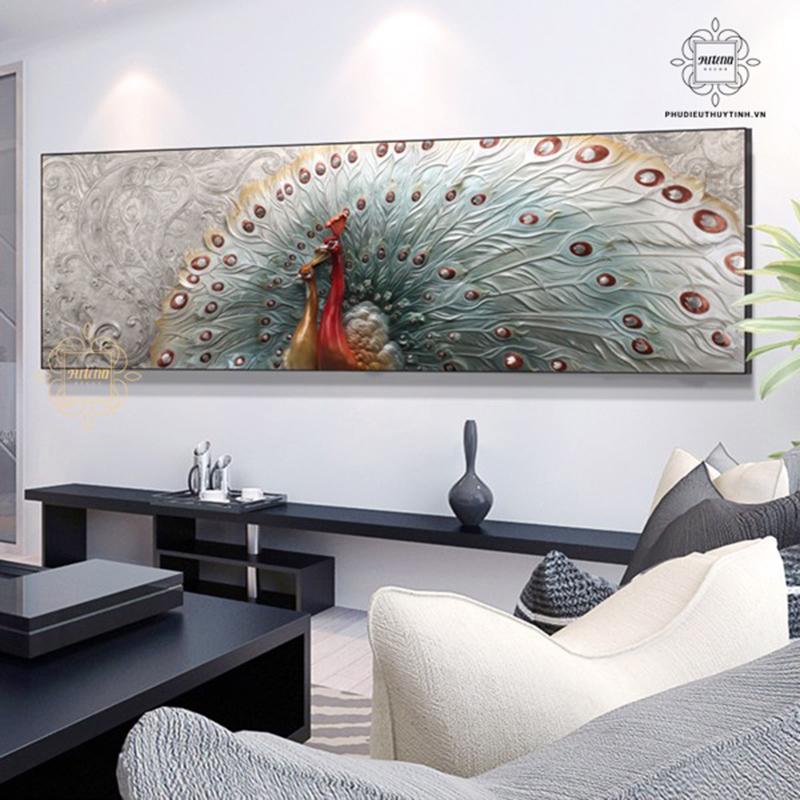Công thành danh toại là mẫu tranh nổi bật cho không gian phòng khách
