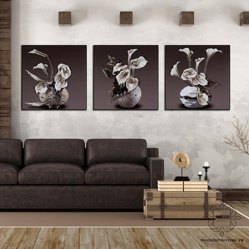 Tranh phù điêu thủy tinh được sử dụng nhiều trong trang trí phòng khách cổ điển