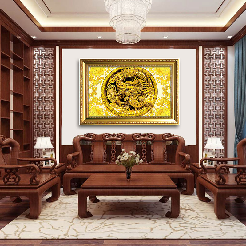 Tranh Rồng cuộn đem đến sự bình an, thịnh vượng cho gia chủ
