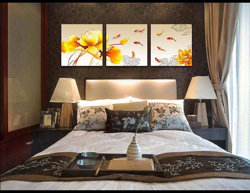 Tranh treo trong phòng ngủ có rất nhiều hình ảnh để bạn lựa chọn