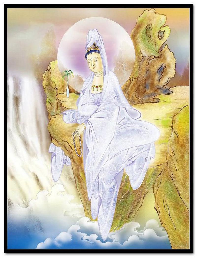 Tranh Quan Âm Bồ Tát giúp đem lại sự bình an cho gia chủ