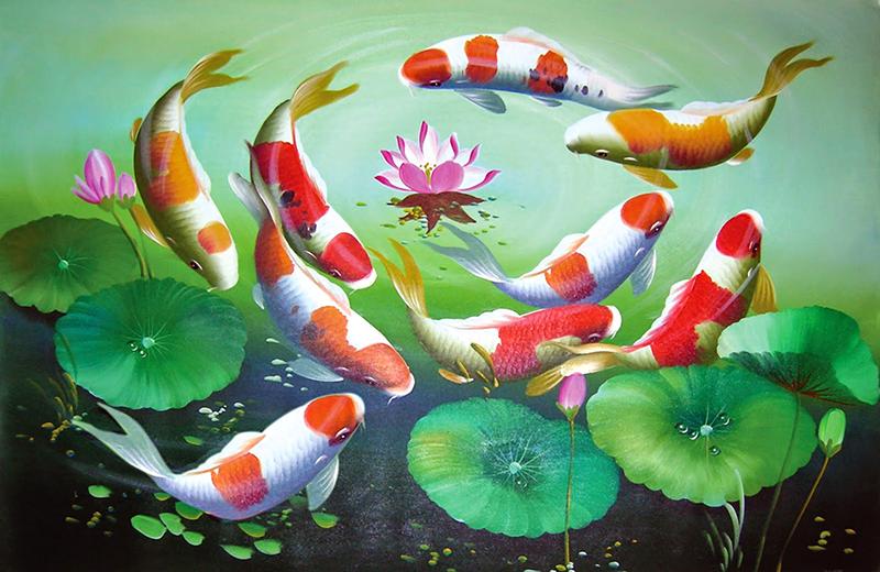 Ý nghĩa ẩn chứa đằng sau 4 tác phẩm tranh cá chép nổi tiếng | Tin tức phổ  thông