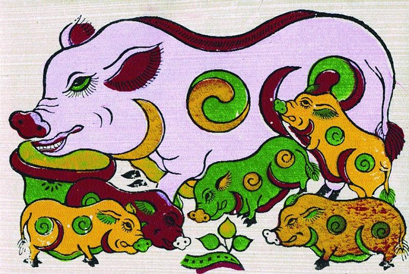 Hợi là linh vật biểu tượng cho sự no đủ, sung túc trong văn hóa dân gian - Nguồn: quavang.vn