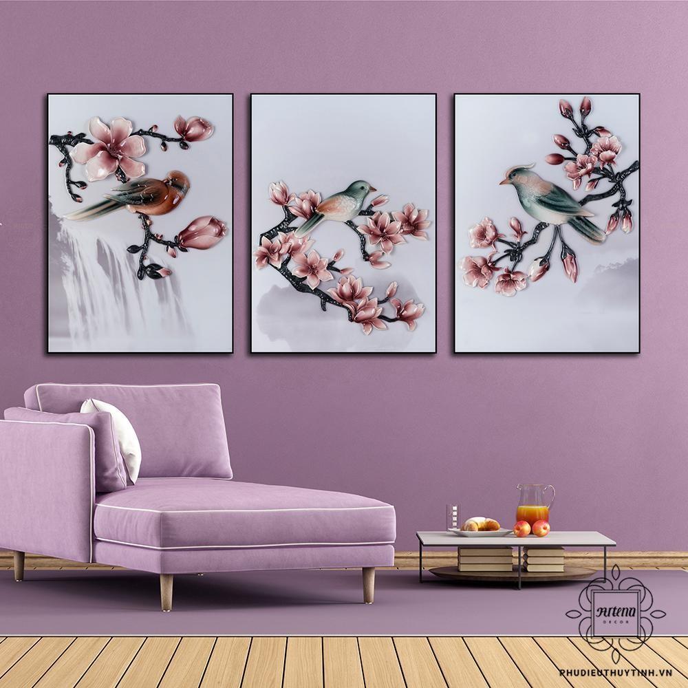 Những bức tranh có màu sắc tươi sáng phù hợp để làm quà tặng mừng thọ