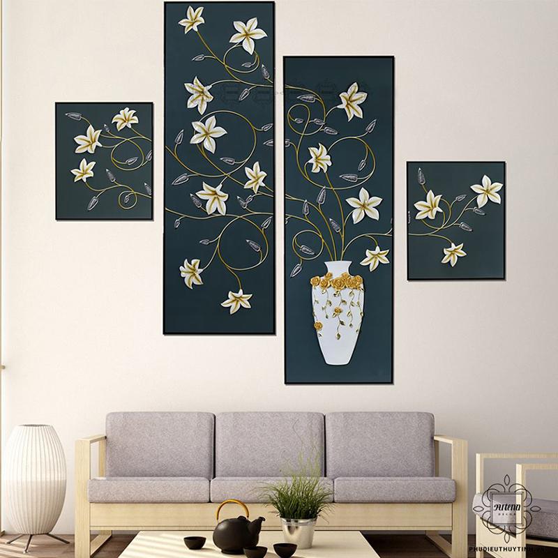 Những bức tranh có nhiều mảnh ghép đem đến nghệ thuật cho ngôi nhà bạn