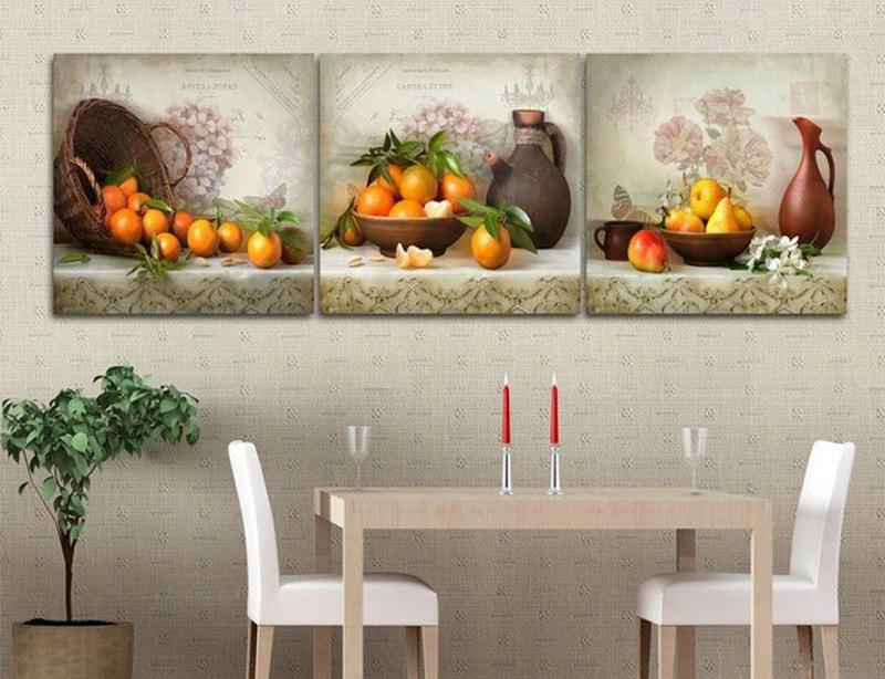 Những bức tranh hình những quả cam mang lại may mắn cho không gian nhà bạn