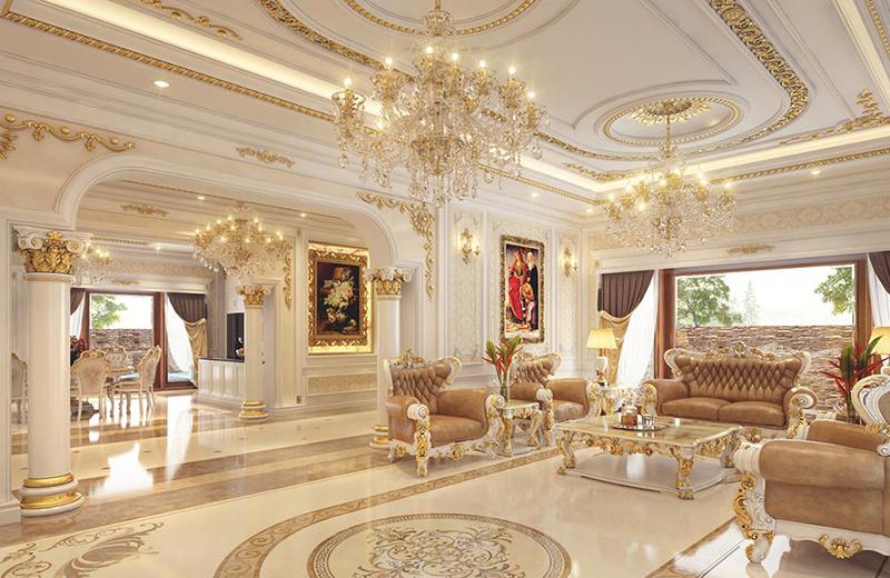 Trang trí phòng khách cổ điển đem lại sự sang trọng, quyền lực cho căn nhà