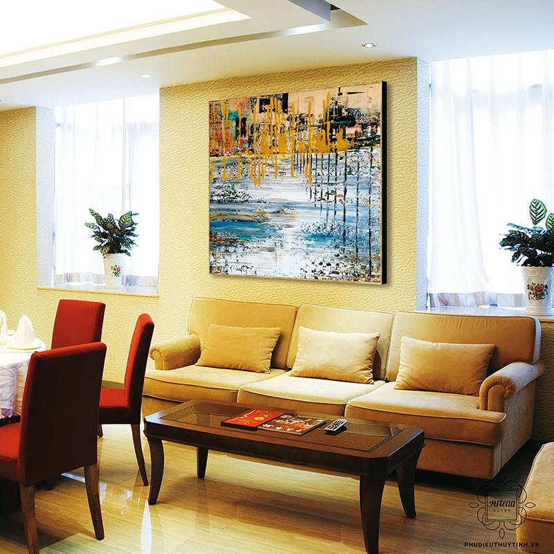 Tranh hiện đại thích hợp để bày trí trong nhiều không gian nội thất khác nhau