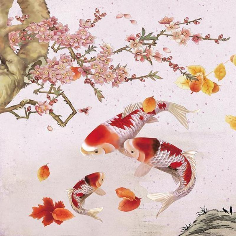 Tranh hồ cá mang lại cho gia chủ không chỉ tiền tài mà còn sức khỏe - Nguồn ảnh: chugiong.com