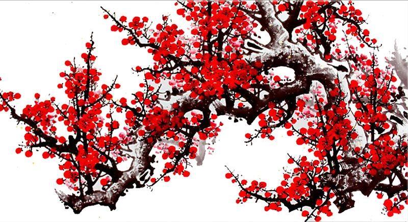 Tranh hoa đào mang lại hứng khởi, tươi mới cho những ngày đầu năm - Nguồn ảnh: haiphatland.com.vn