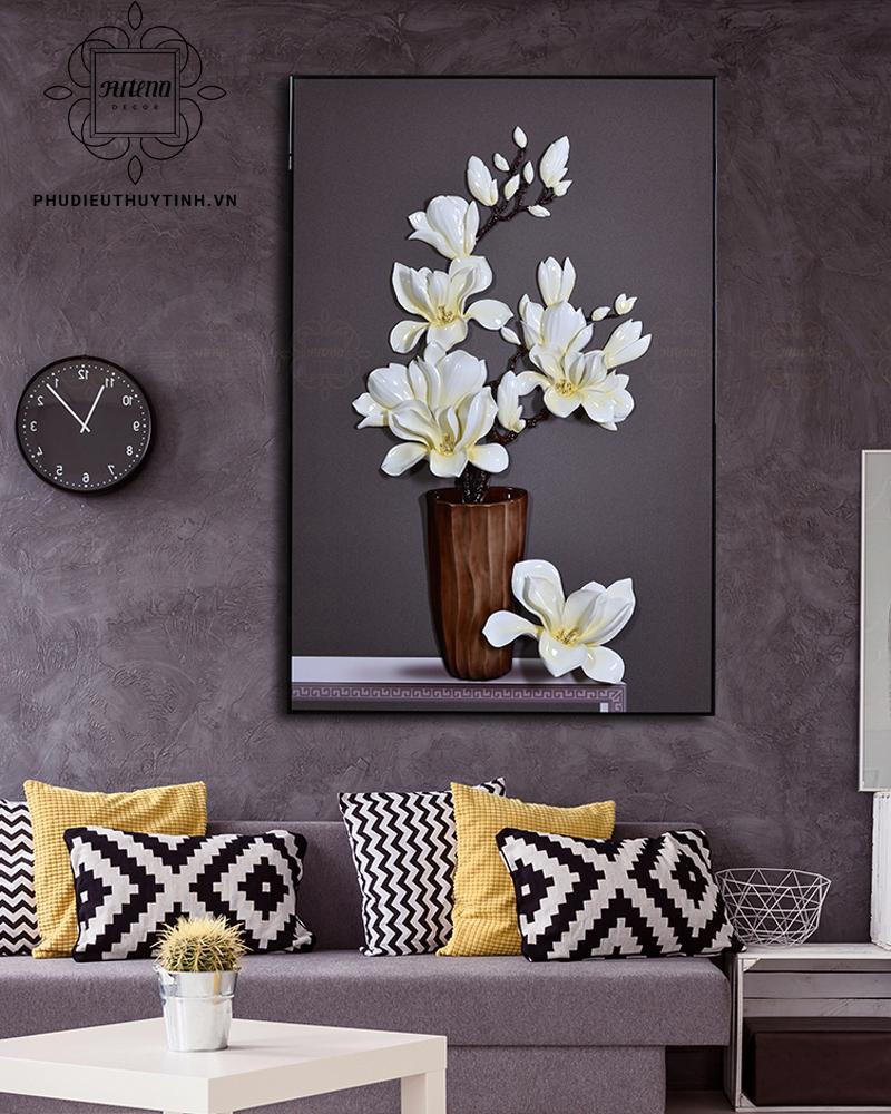 Tranh hoa lan với ý nghĩa nét đẹp trường tồn, giàu có, hoàn mỹ
