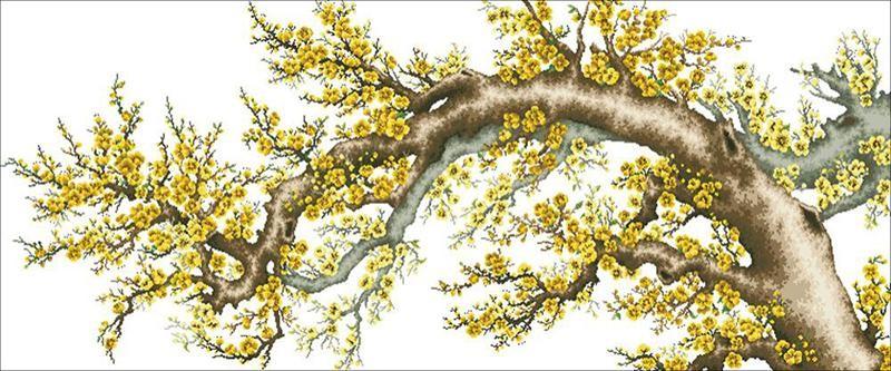 Tranh hoa mai mang lại phúc khí cho gia chủ - Nguồn ảnh: theutay.vn
