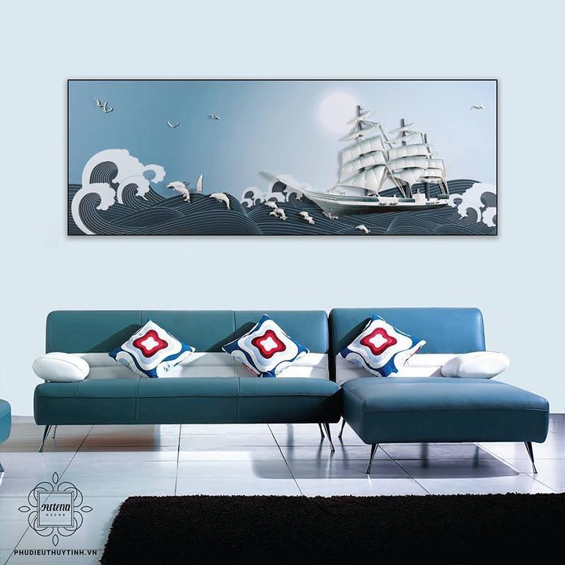 Tranh thuyền buồm giúp việc làm ăn thuận buồm xuôi gió