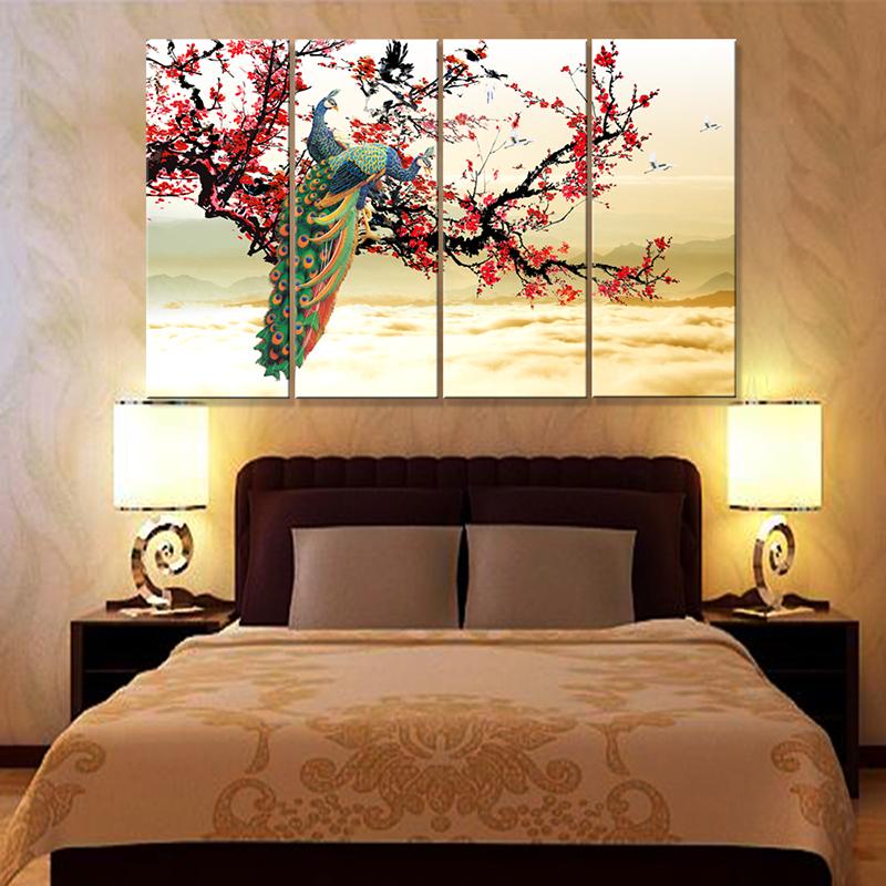 Tranh uyên ương đem lại cảm giác lãng mạn cho phòng ngủ