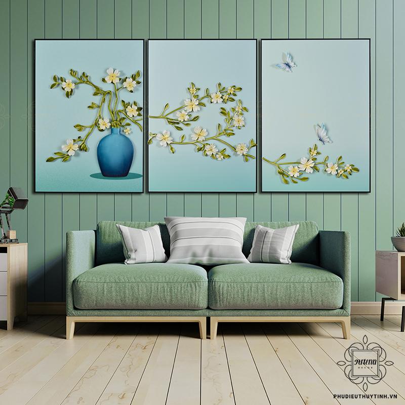 Vẻ đẹp nhẹ nhàng, tinh tế của tranh ghép hình hoa lá