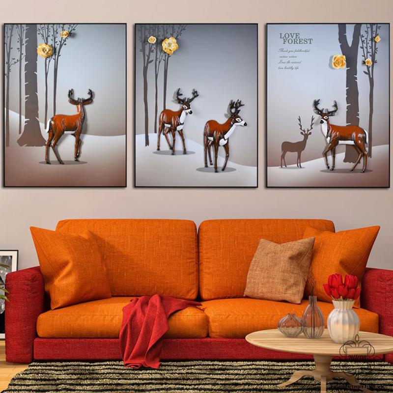 Ái Chi Lâm với những chú hươu đầy quyền quý đang dạo chơi trong khu rừng