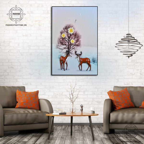 Cặp đôi hươu nai tượng trưng cho tình cảm lứa đôi keo sơn bền chặt