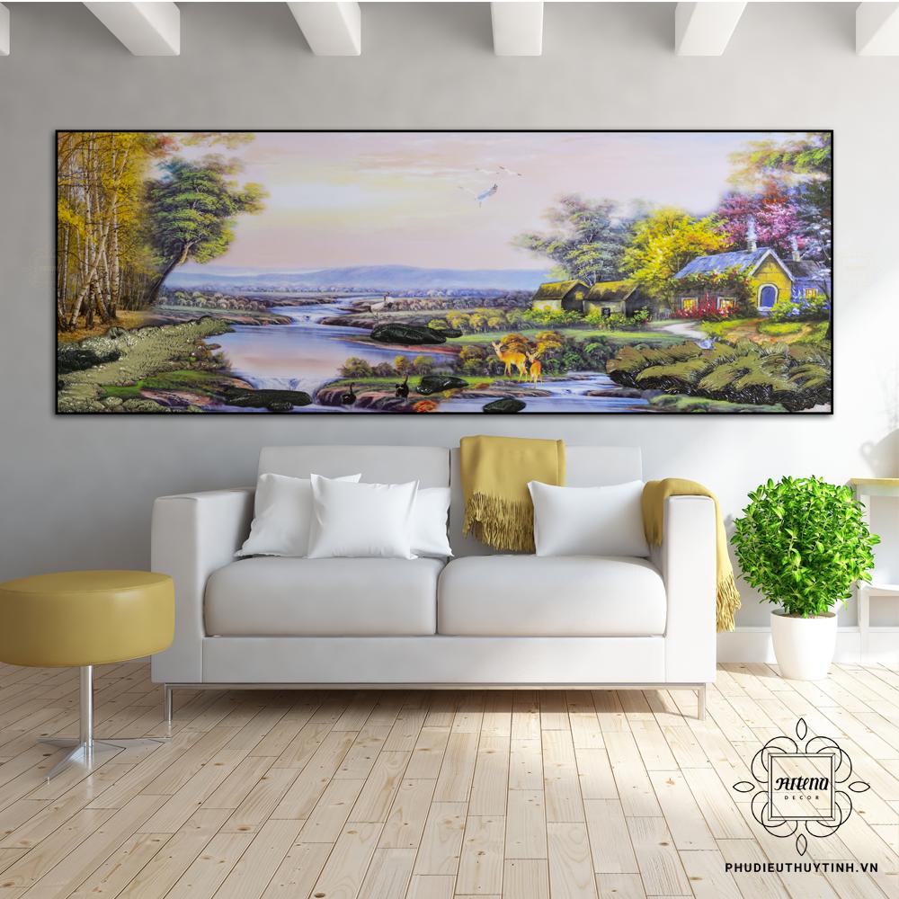 Mộc hợp Mộc nên những bức tranh về phong cảnh thiên nhiên rất hợp cho người mệnh Mộc