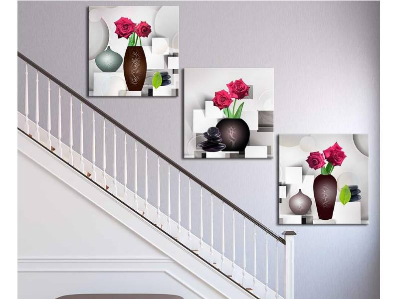 Sử dụng tranh phù điêu treo cầu thang ngày càng được mọi người ưa chuộng