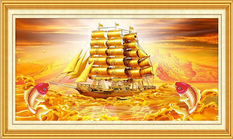 Tranh thuận buồm xuôi gió không gì đẹp mà còn có giá trị phong thủy