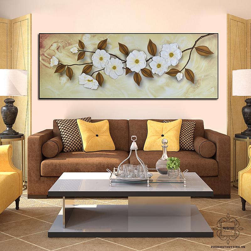 Chọn tranh phụ điêu hợp với màu tường là yếu tố quan trọng làm tăng tính thẩm mỹ cho căn nhà