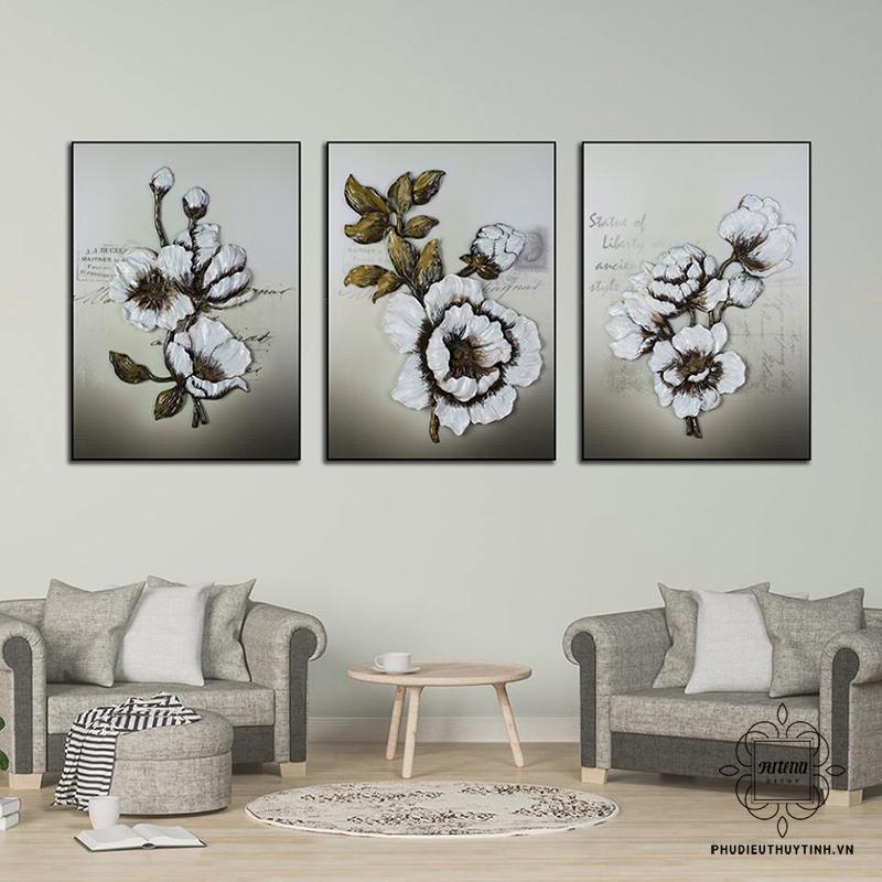 Màu tường, màu tranh và màu đồ nội thất tương ứng với nhau tạo nên sự nhu hòa