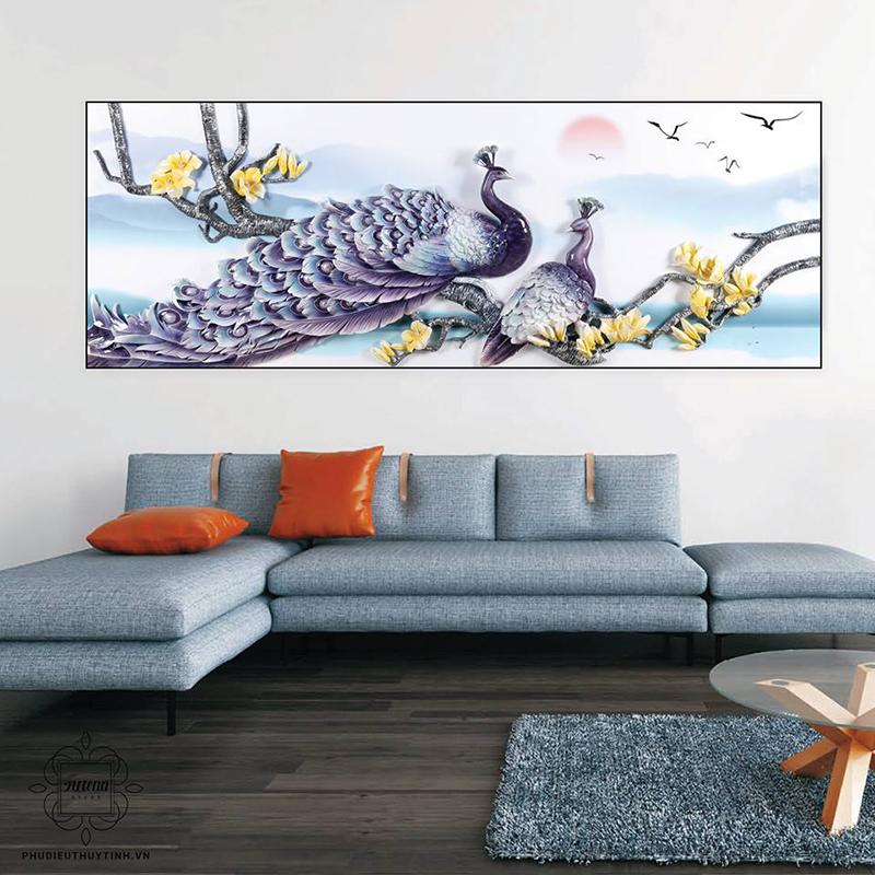 Những bức tranh chim công khoe sắc luôn gây sự chú ý với mọi người