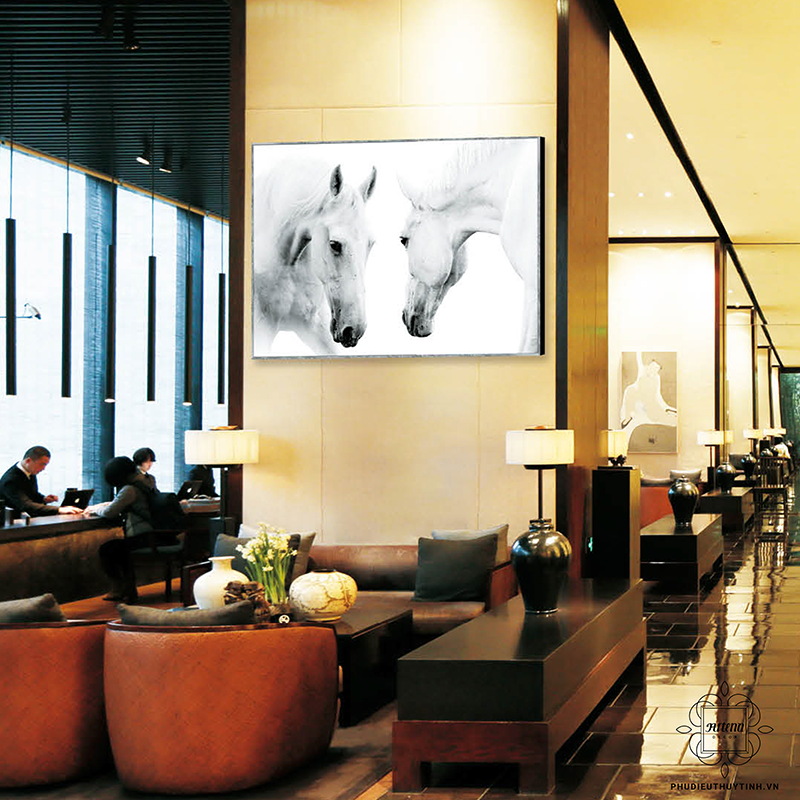 Những bức tranh hình chú ngựa luôn nhận được tình cảm của mọi gia chủ