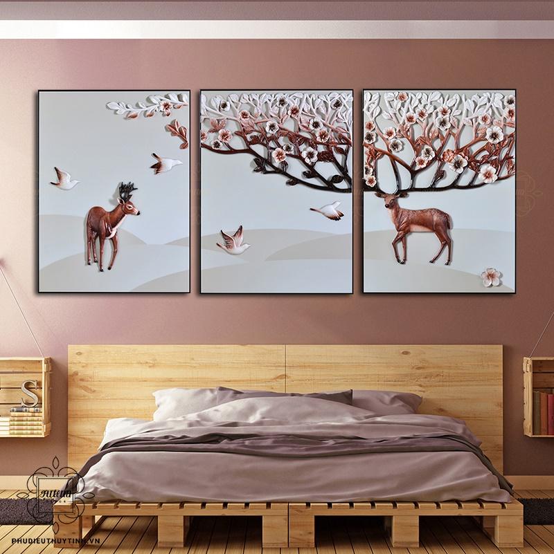 Chú ý màuPhối màu thông minh giúp mở rộng không gian sống sắc tường trước khi lựa chọn tranh phù điêu
