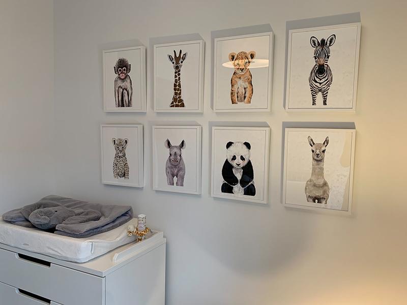 Tranh các loài thú cho phòng pastel của bé yêu - Nguồn: pexels.com