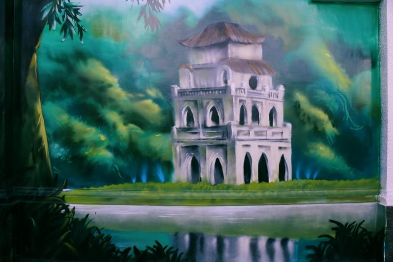 Tranh Hồ Gươm bình lặng, thơ mộng đến lạ thường - Nguồn: kenh14.vn