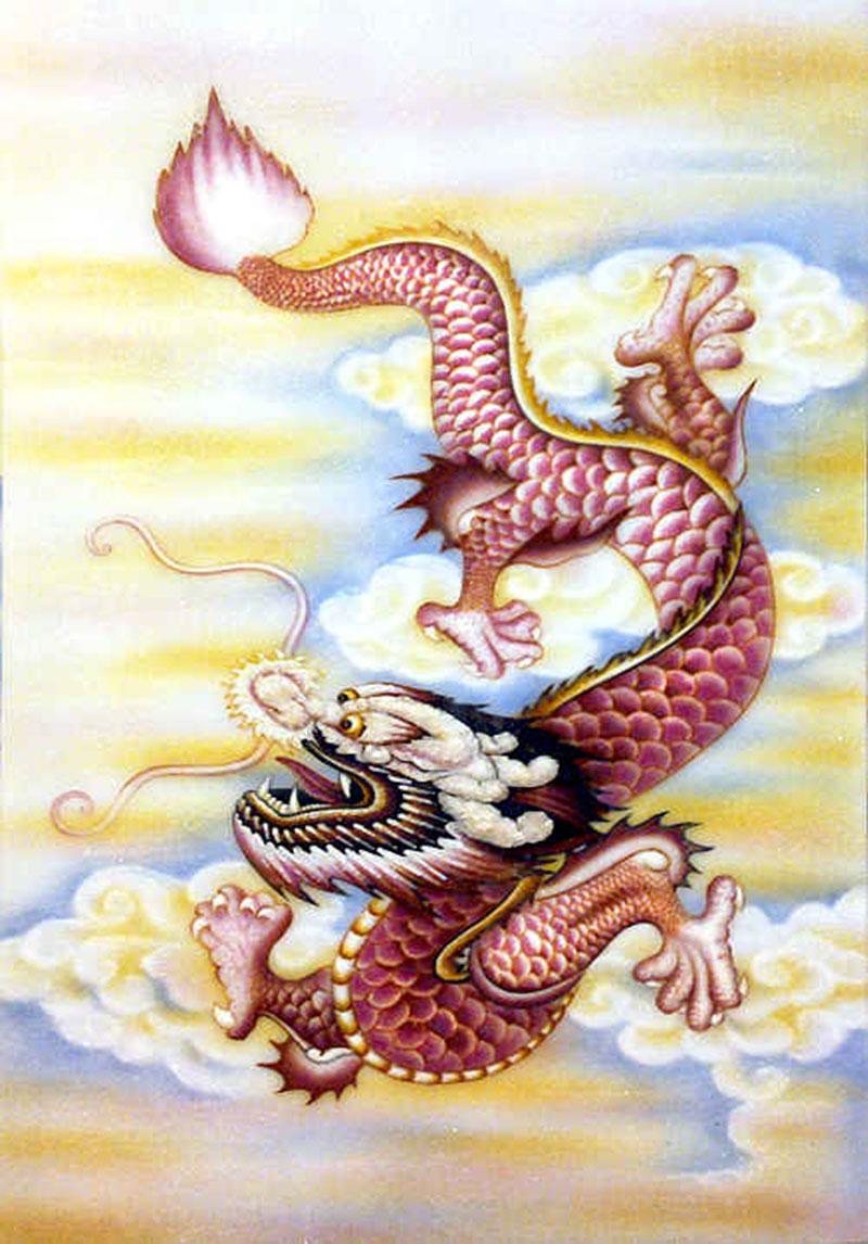 Tranh phù điêu rồng đem đến may mắn, tài lộc cho người tuổi Tý - Nguồn: Tranh đá quý Tân Phú Khánh
