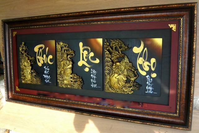 Tranh thư pháp đòi hỏi người thưởng thức phải có sự say mê với loại hình nghệ thuật này - Nguồn: vatgia.com
