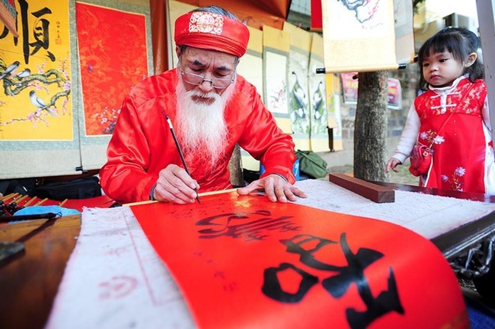 Tranh thư pháp ngày xưa mang hơi hướng của nghệ thuật thủ công rất rõ rệt - Nguồn: ttxtdldongnai.vn