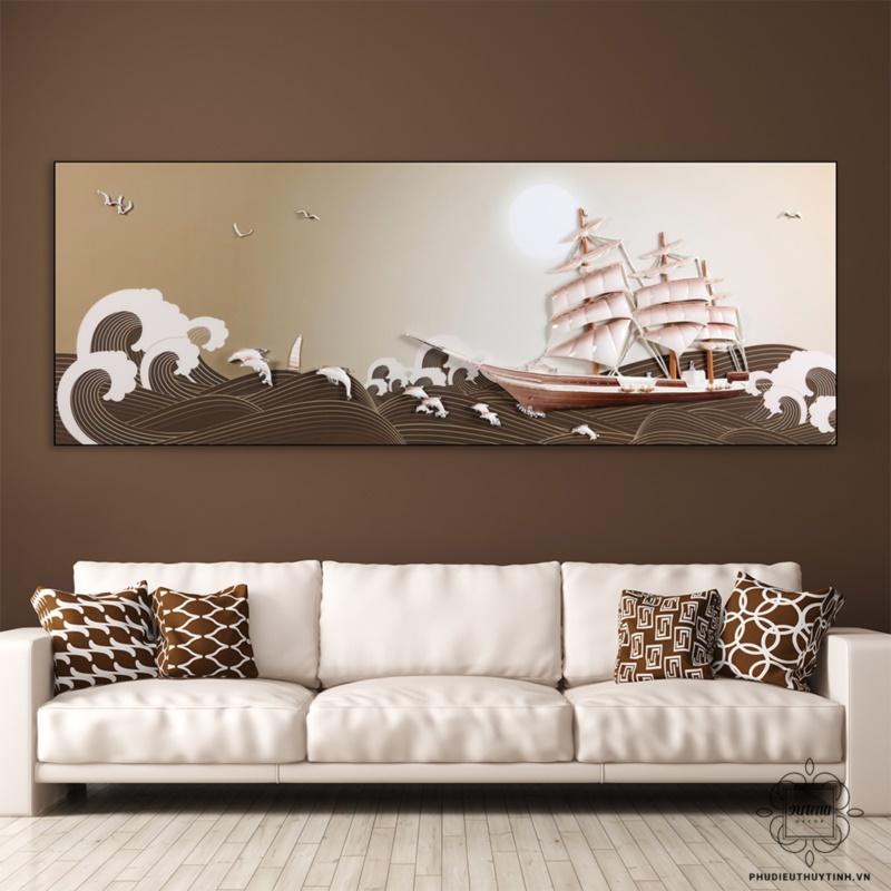 Tranh Thuận Buồm Xuôi Gió thích hợp treo trong phòng khách của gia chủ tuổi Mùi