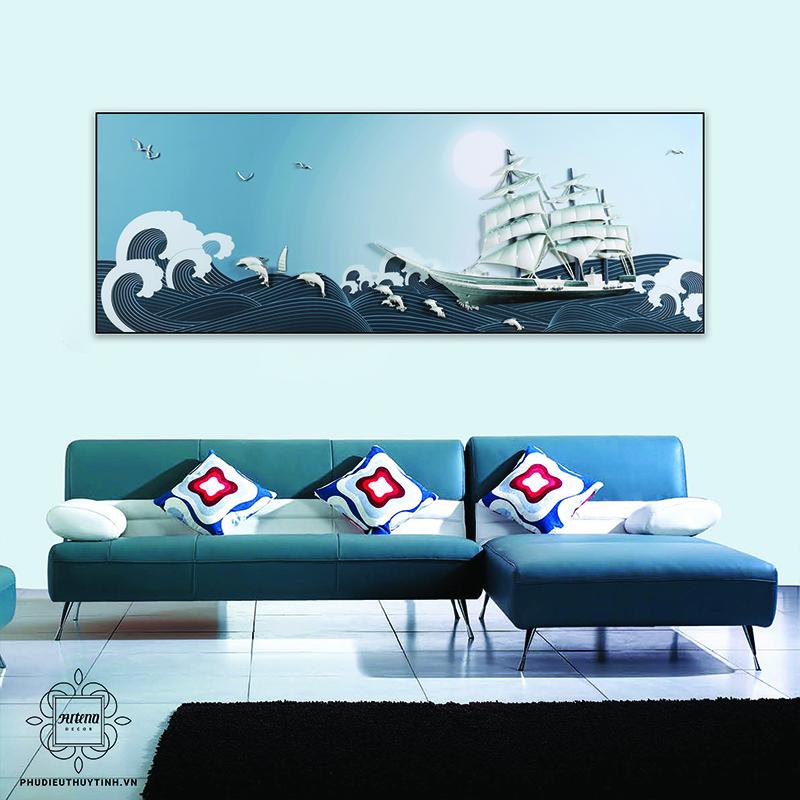 Tranh thuyền biển phù hợp cho người tuổi Giáp Dần