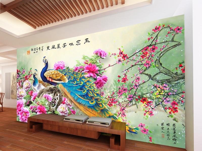 Tranh uyên ương vẽ đôi chim nên thuộc hành Kim nhưng nếu kết hợp với các yếu tố khác sẽ thích hợp với những người có mệnh khác nhau - Nguồn: noithat86.vn