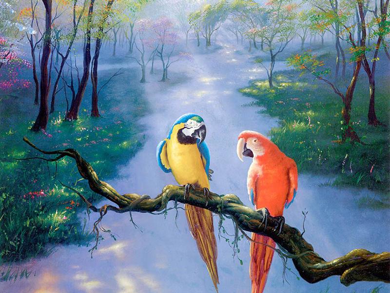 Treo tranh uyên ương đúng vị trí sẽ đem lại hạnh phúc viên mãn cho lứa đôi - Nguồn: shoptranhviet.com