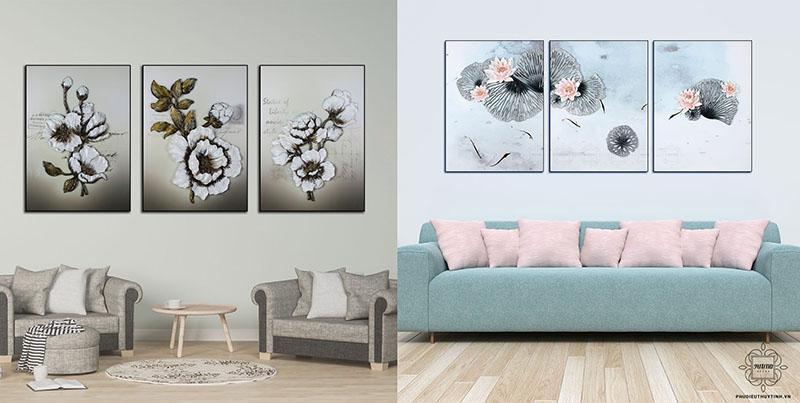 """""""Tuế Nguyệt Lưu Niên"""" và """"Xuất Thủy Phù Dung"""" là hai bức tranh được rất nhiều khách hàng yêu thích của Artena"""