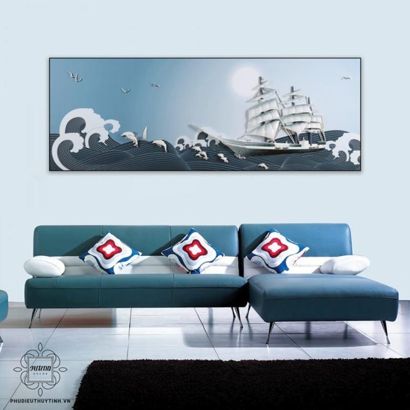 Bức tranh với hình ảnh thuyền buồm đầy hi vọng