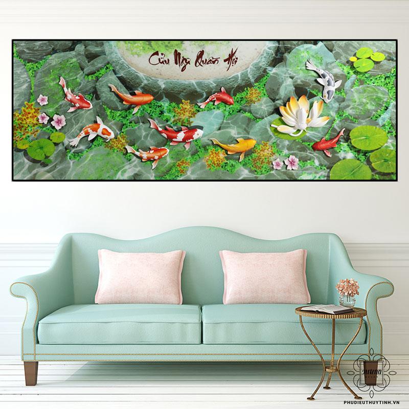 Nên chọn những bức tranh mang hành Thủy như Cửu Ngư Quần Hội