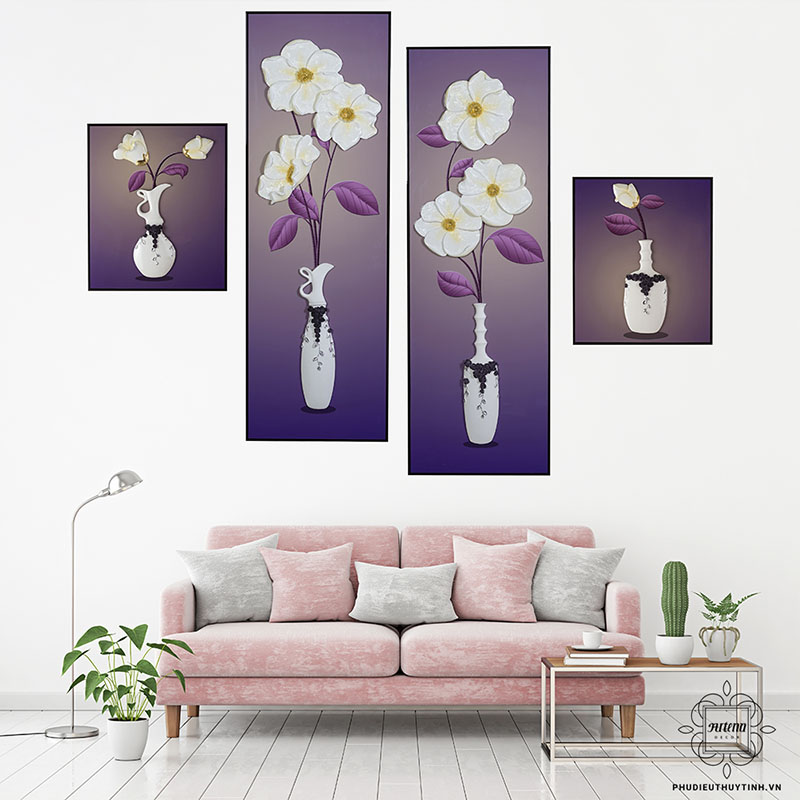 Những bức tranh hoa lá trang trí được ưa chuộng bởi sự tươi mới