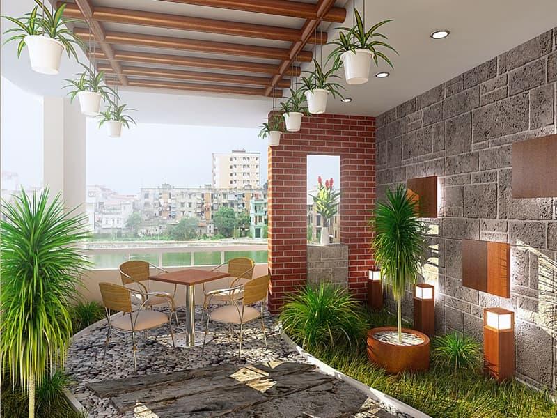 Tạo ra một khu vườn nhỏ sẽ khiến không gian trở nên dễ chịu và thoáng đạt hơn