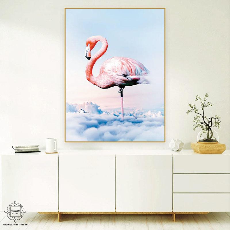 Tranh chim Hồng Hạc tạo cảm giác phóng khoáng, sáng tạo và tự do