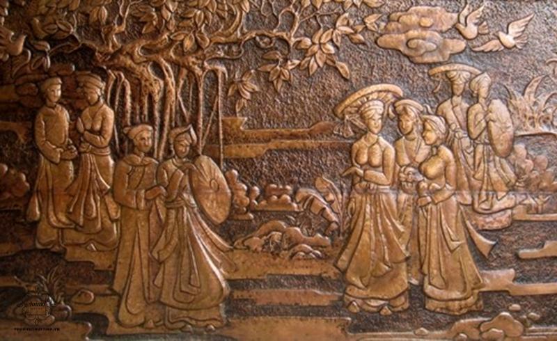 Tranh đồng phù điêu có giá trị văn hóa và nghệ thuật rất cao