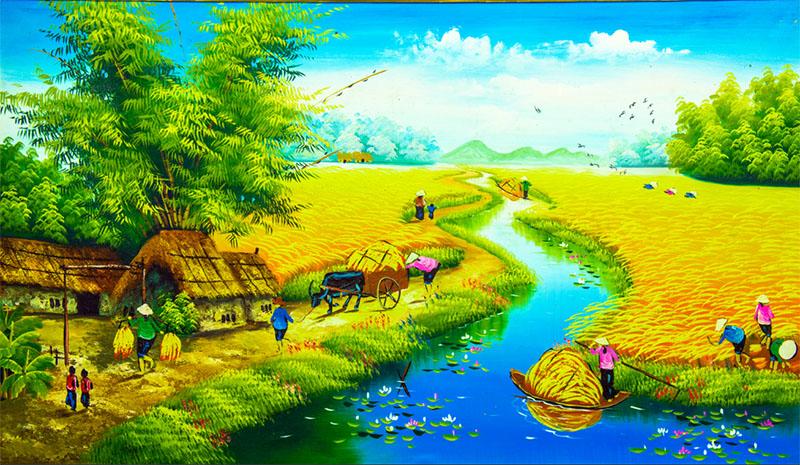 Tranh đồng quê bức tranh thu nhỏ của cuộc sống nông thôn