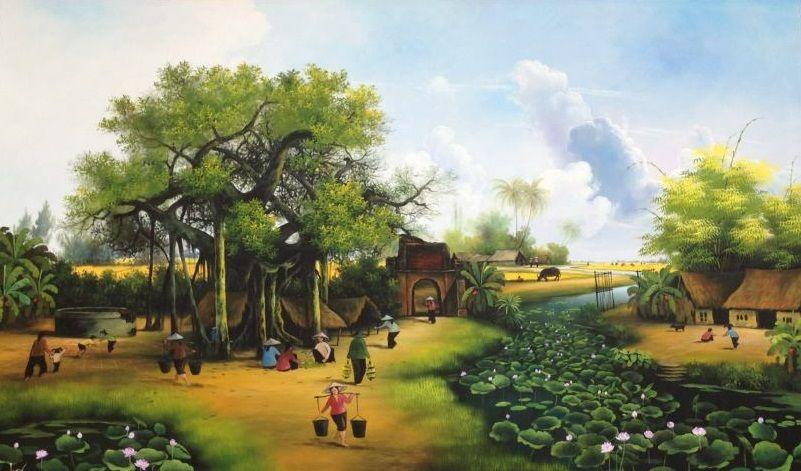 Tranh đồng quê treo tường – nơi bình yên dừng chân