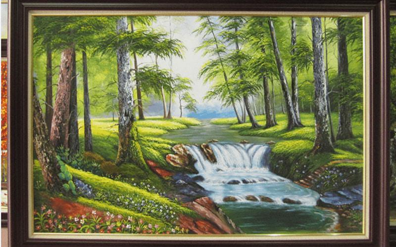 Tranh về thiên nhiên hoa lá khiến không gian thêm phần xanh mát