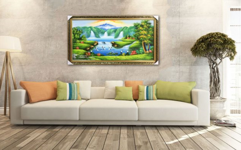 Những bức tranh sơn thủy được xem là mang đến điềm lành