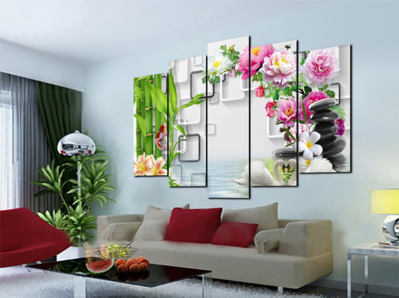 Cần lưu ý khi treo tranh hoa mẫu đơn trong nhà